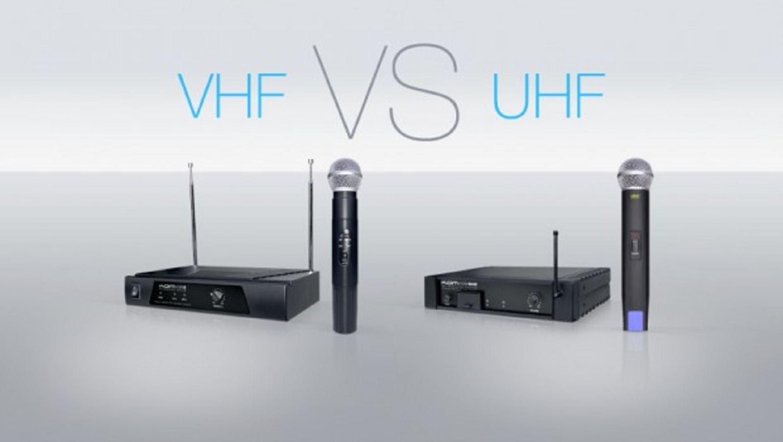 Sự khác nhau giữa Micro không dây UHF và VHF