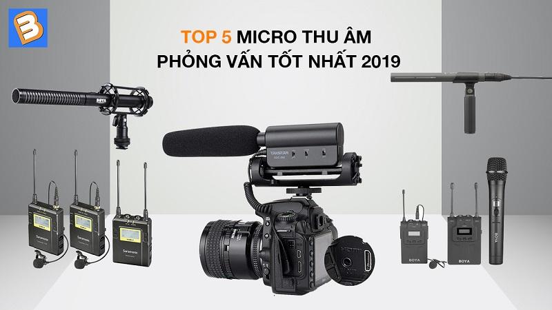 Top 5 micro thu âm phỏng vấn tốt nhất 2019