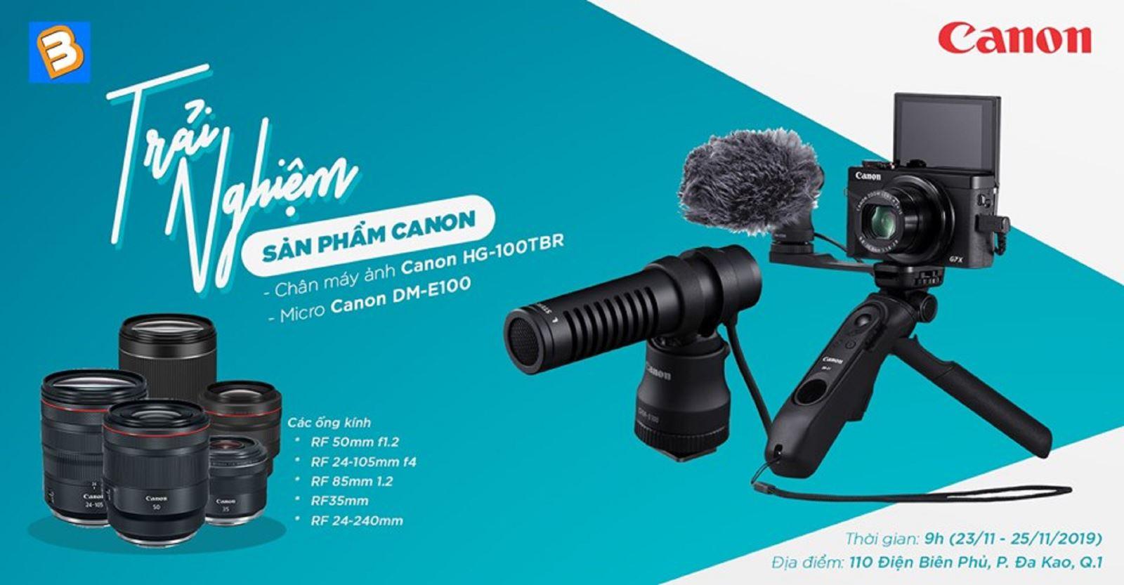 Trải nghiệm sản phẩm Canon cùng BinhMinhDigital