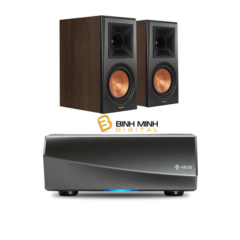 bo-dan-am-thanh-nghe-nhac-2-kenh-stereo-series-38-loa-klipsch-rp-600m-walnut-ampli-denon-heos-amp-hs2