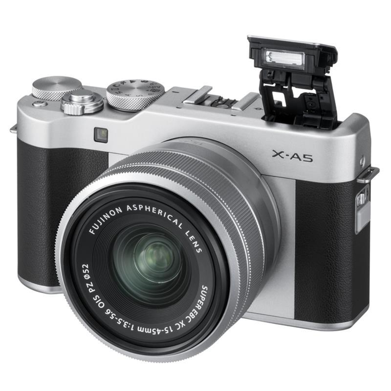 Máy Ảnh Fujifilm X-A5 Kit 15-45 mm F 3.5.5.6 OIS PZ (Bạc)
