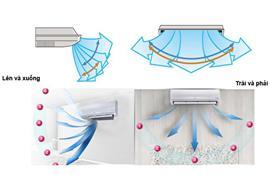 Các chế độ điều hướng gió của máy lạnh