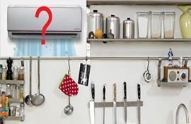 Cảnh báo: nguy hiểm vô cùng khi lắp máy lạnh ở nhà bếp