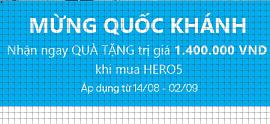 Nhận ngay quà hấp dẫn trị giá 1.400.000 VDN khi mua GoPro Hero 5 nhân dịp Quốc Khánh