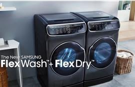Thoải mái giặt giũ với máy giặt Samsung FlexWash thiết kế lồng đôi
