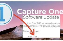 Capture One tung phiên bản 11.0.1 hỗ trợ Fujifilm X-E3 và sửa lỗi trên máy tính
