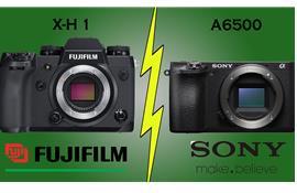 So sánh Fujifilm X-H1 và Sony A6500