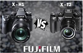 So sánh máy ảnh Fujifilm X-H1 và Fujifilm X-T2?