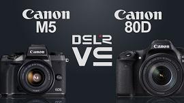 So sánh Canon EOS M50 vs Canon EOS 80D
