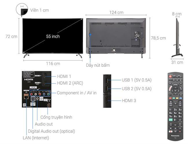 Tivi Panasonic TH-55ES500V (Smart Tivi, Full HD, 55icnh)