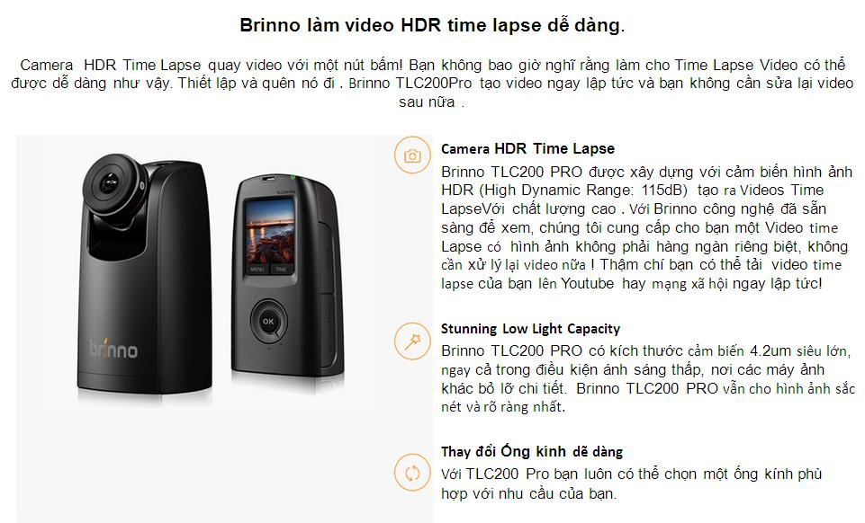 Brinno TLC200 Pro (Camera Quay Time-Lapse HDR)